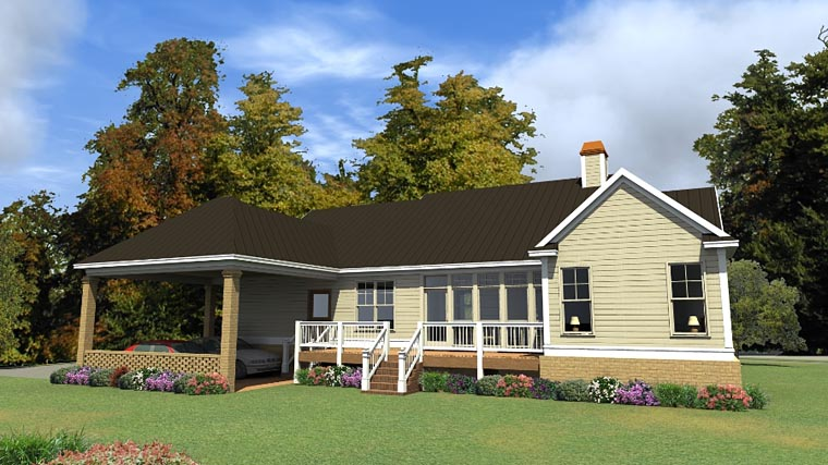 Country Traditional House Plan 78865 Rear Elevation