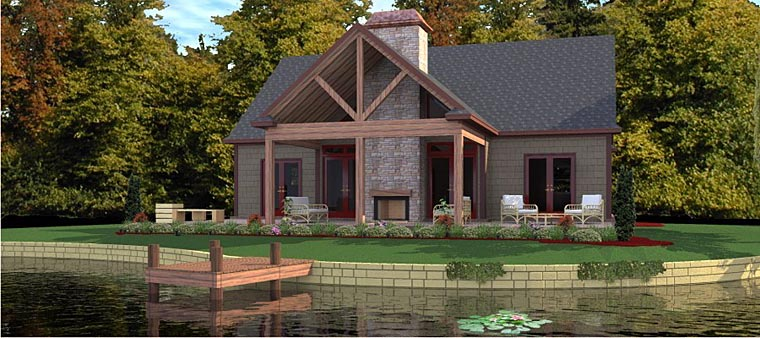 Coastal Traditional House Plan 78868 Elevation