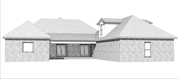 Colonial European House Plan 78873 Rear Elevation