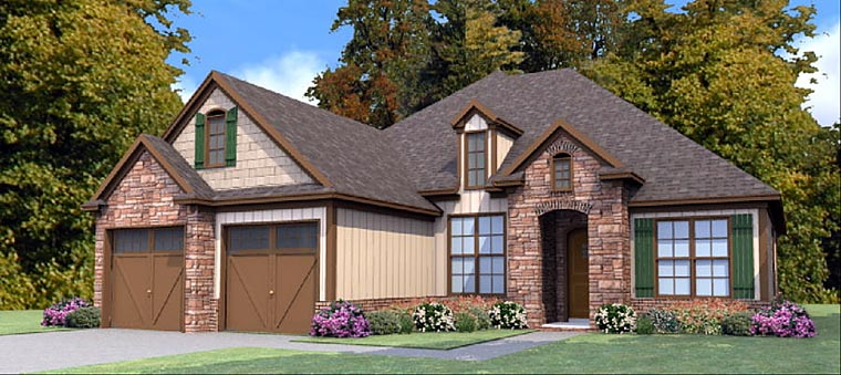Country Craftsman Traditional House Plan 78874 Elevation