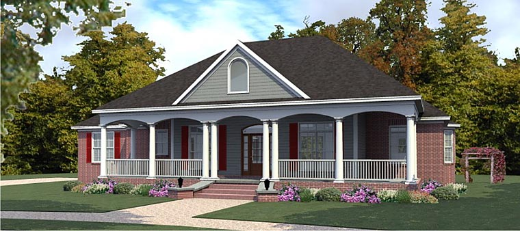 House Plan 78877 | Country European Style Plan with 2498 Sq Ft, 3 Bedrooms, 3 Bathrooms, 3 Car Garage Elevation