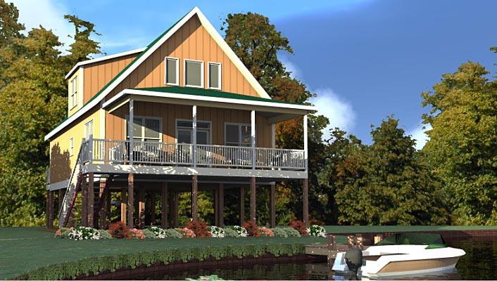 Coastal Contemporary Traditional House Plan 78878 Elevation
