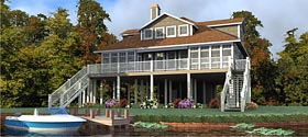 Coastal Contemporary Country House Plan 78879 Elevation