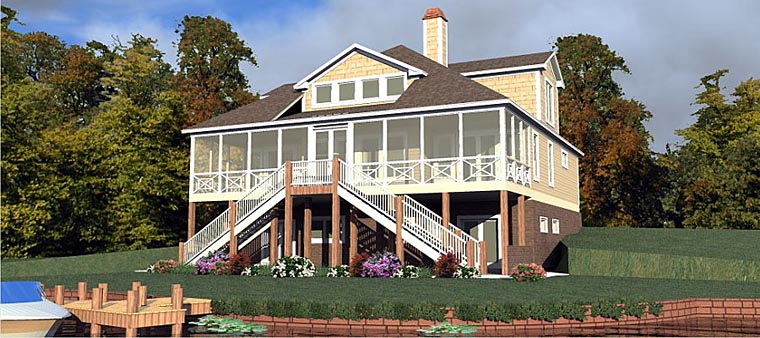 Coastal Contemporary Traditional House Plan 78880 Elevation