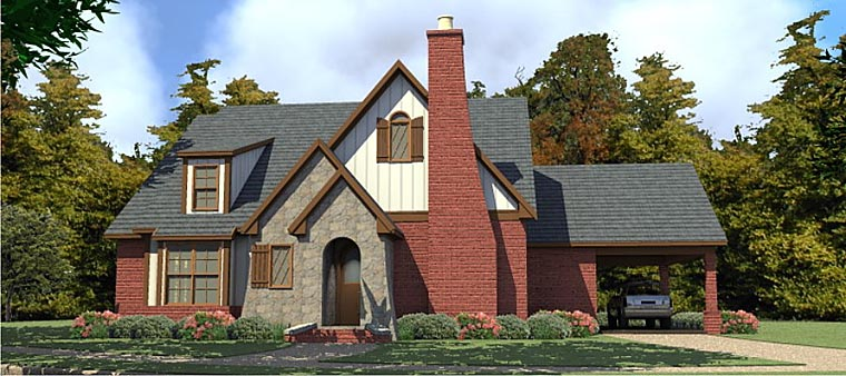 Tudor Tuscan House Plan 78882 Elevation