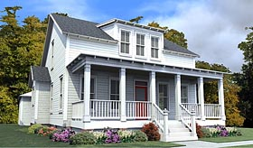 Southern , Colonial House Plan 78883 with 4 Beds, 4 Baths, 2 Car Garage Elevation