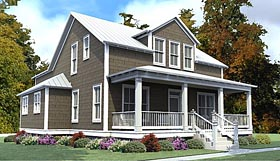 Colonial Country Southern House Plan 78885 Elevation