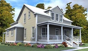 Colonial , Country House Plan 78886 with 4 Beds, 4 Baths, 2 Car Garage Elevation