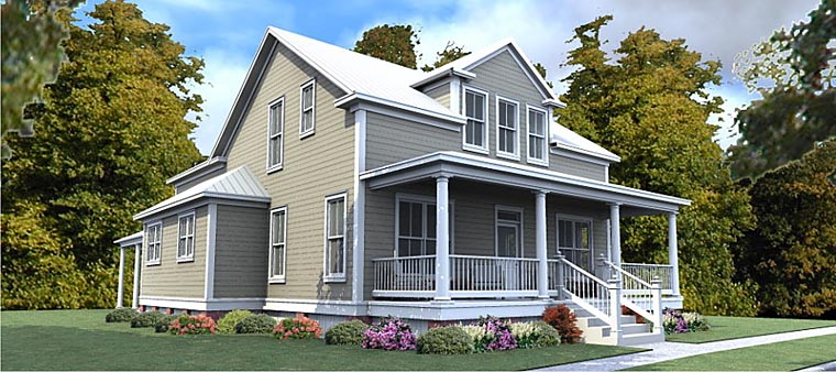 Colonial Country House Plan 78886 Elevation
