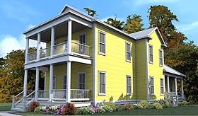 House Plan 78888 | Colonial Historic Southern Style Plan with 2604 Sq Ft, 4 Bedrooms, 4 Bathrooms Elevation