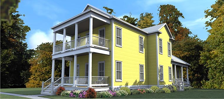 Colonial Historic Southern House Plan 78888 Elevation