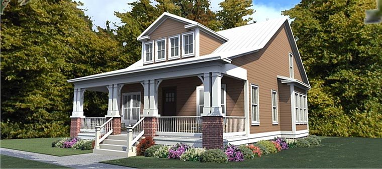 Cottage Country Craftsman House Plan 78893 Elevation