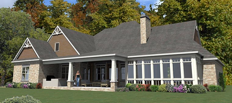 Craftsman Traditional House Plan 78894 Rear Elevation