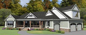 Country Craftsman House Plan 78895 Elevation