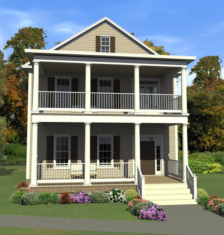 Colonial Southern House Plan 78897 Elevation