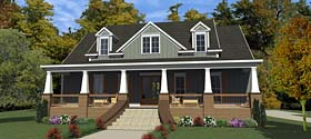 Bungalow , Cottage , Country , Craftsman , Farmhouse , Historic House Plan 78898 with 3 Beds, 3 Baths, 2 Car Garage Elevation
