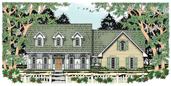 Cape Cod Country House Plan 79000 Elevation