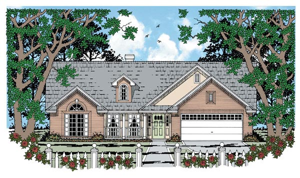 Traditional House Plan 79003 Elevation