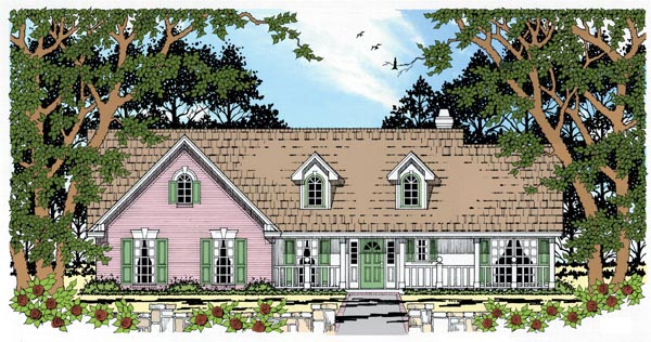 Country House Plan 79008 Elevation