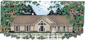 Ranch Traditional House Plan 79009 Elevation