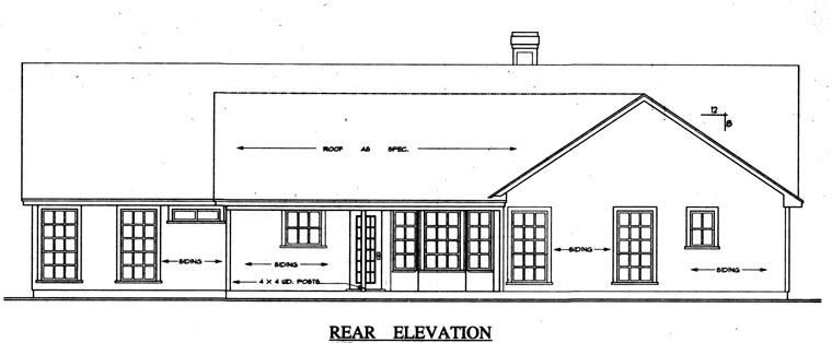 Ranch Traditional House Plan 79009 Rear Elevation