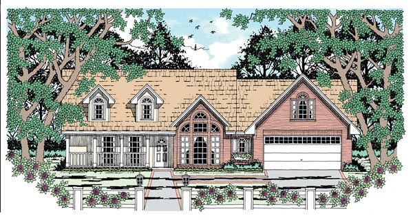 Traditional House Plan 79011 Elevation