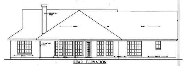 Country House Plan 79013 Rear Elevation