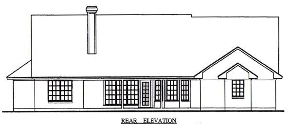 Country House Plan 79014 Rear Elevation
