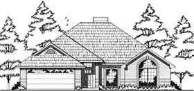European House Plan 79016 Elevation