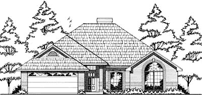 European House Plan 79016 Elevation