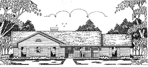 Ranch House Plan 79023 Elevation