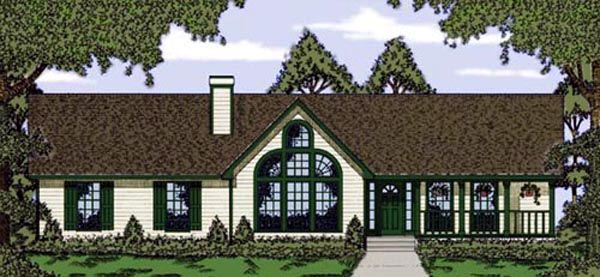 Ranch House Plan 79024 Elevation