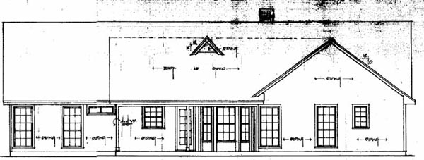Ranch House Plan 79024 Rear Elevation