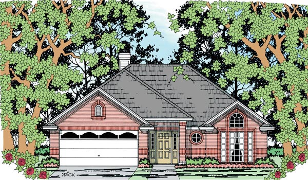 European House Plan 79026 Elevation