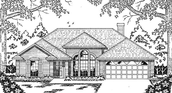 European House Plan 79027 Elevation