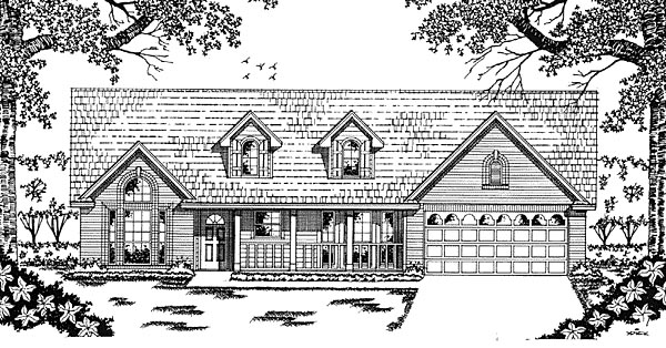 Country House Plan 79029 with 3 Beds, 2 Baths, 2 Car Garage Elevation