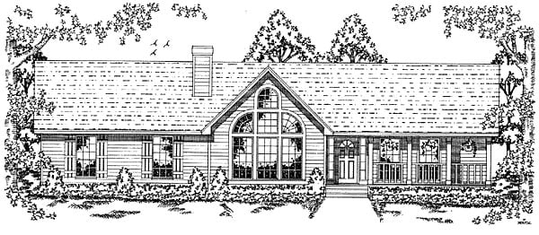 Country Traditional House Plan 79031 Elevation