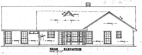 Country Traditional House Plan 79031 Rear Elevation