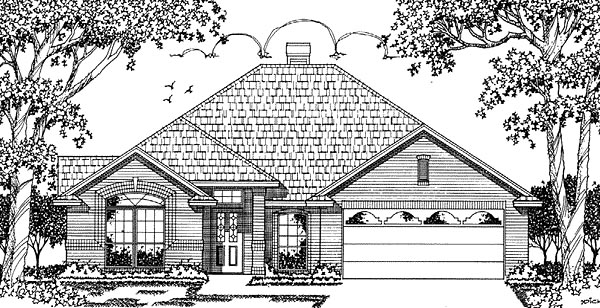 European House Plan 79034 Elevation