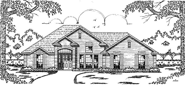 European House Plan 79035 Elevation
