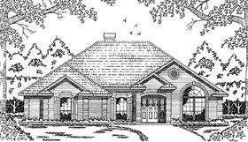 European House Plan 79037 Elevation
