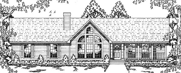 Traditional House Plan 79039 Elevation