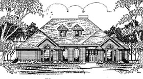 European House Plan 79042 Elevation