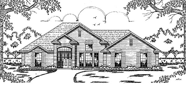 European House Plan 79043 Elevation