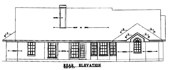 Country House Plan 79044 Rear Elevation