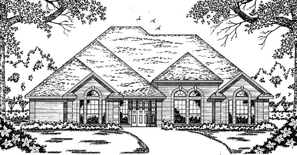 House Plan 79046 | European Style Plan with 2089 Sq Ft, 4 Bedrooms, 3 Bathrooms, 2 Car Garage Elevation