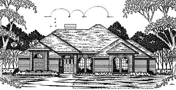 European House Plan 79047 Elevation