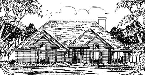 European House Plan 79049 Elevation