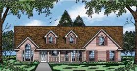 Country House Plan 79061 Elevation
