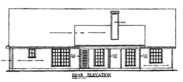Country House Plan 79061 Rear Elevation